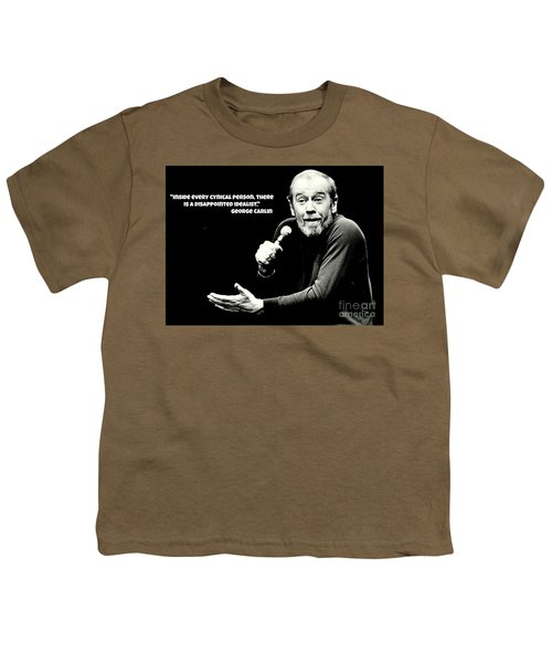 George Carlin Art  Youth T-Shirt by Pd