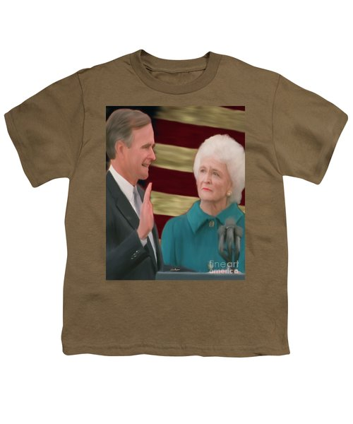 George Hw Bush Inauguration  Youth T-Shirt by Jack Bunds