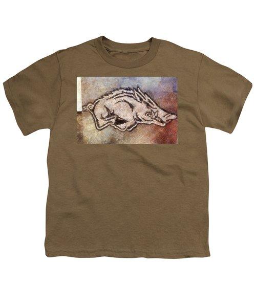 Go Hogs Go  Youth T-Shirt by Dawn Bearden