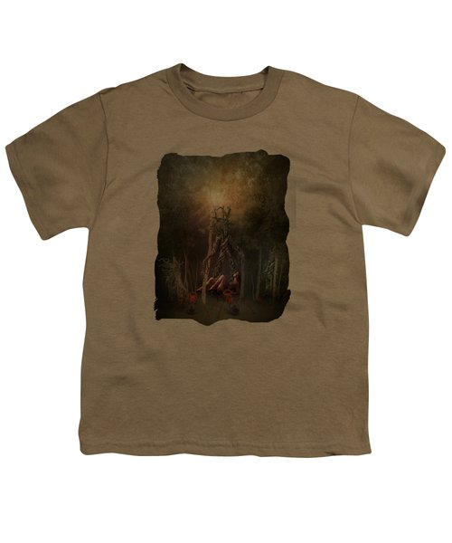 Guardians Of The Forest Youth T-Shirt by Terry Fleckney