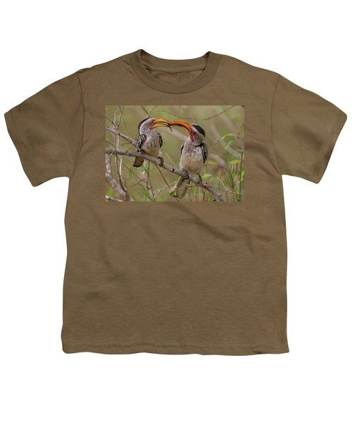 Hornbill Love Youth T-Shirt by Bruce J Robinson