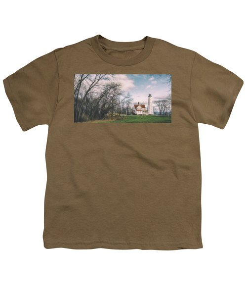 Late Afternoon At The Lighthouse Youth T-Shirt by Scott Norris