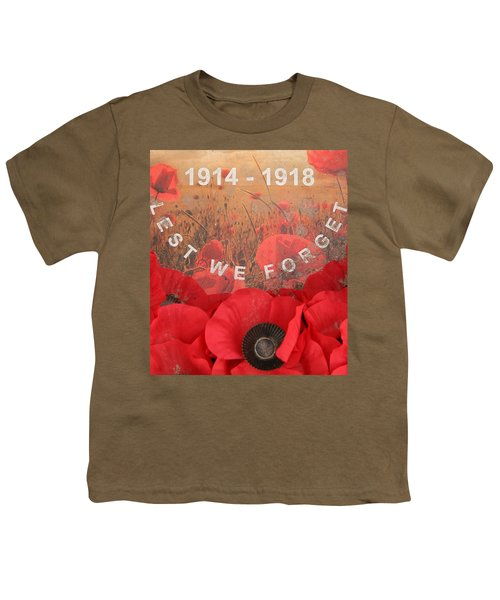 Youth T-Shirt featuring the photograph Lest We Forget - 1914-1918 by Travel Pics