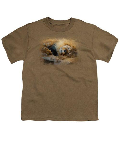 Lion Love 2 Youth T-Shirt by Jai Johnson
