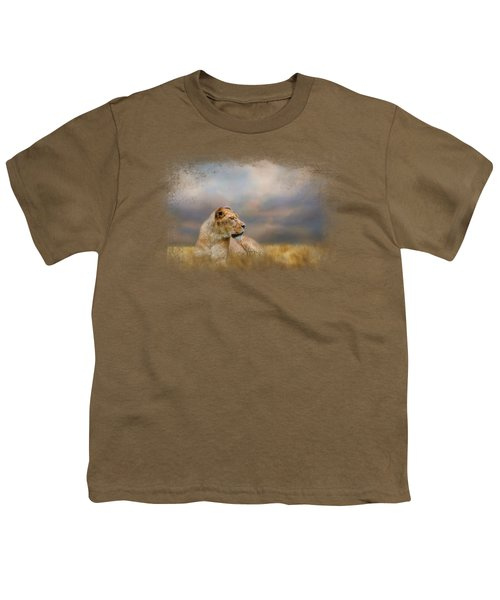 Lioness After The Storm Youth T-Shirt by Jai Johnson
