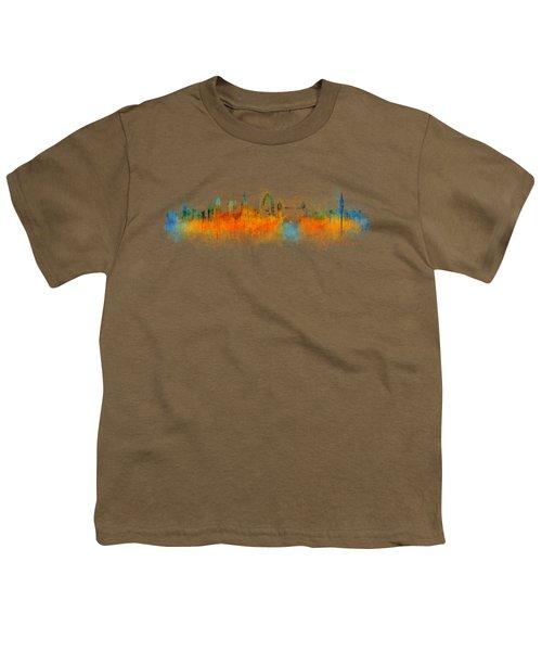 London City Skyline Hq V3 Youth T-Shirt by HQ Photo