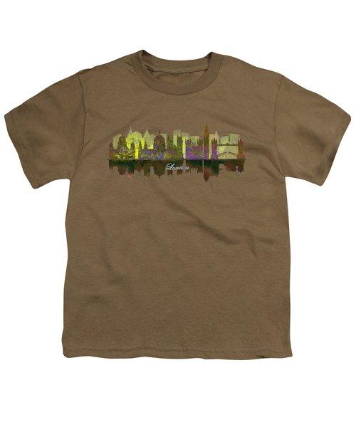 London England Skyline In Golden Light Youth T-Shirt by John Groves