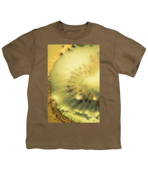 Macro Shot Of Submerged Kiwi Fruit Youth T-Shirt by Jorgo Photography - Wall Art Gallery