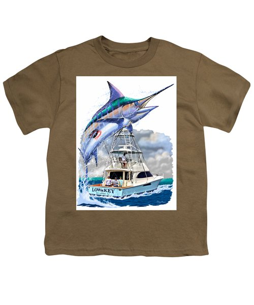 Marlin Commission  Youth T-Shirt by Carey Chen