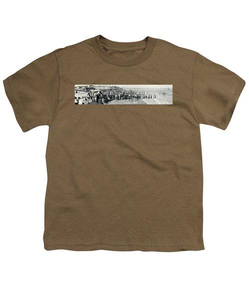 Miami Beach Sunbathers 1921 Youth T-Shirt by Jon Neidert