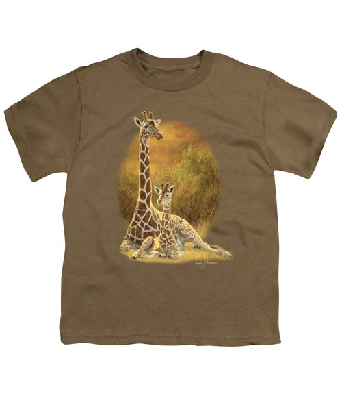 Mother And Son Youth T-Shirt by Lucie Bilodeau