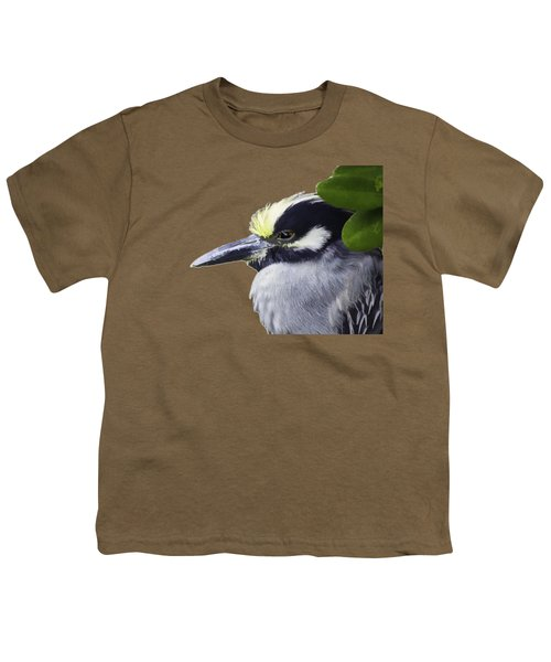 Night Heron Transparency Youth T-Shirt by Richard Goldman