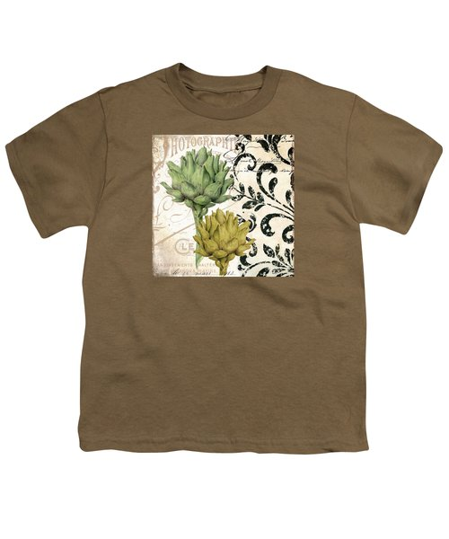 Paris Artichokes Youth T-Shirt by Mindy Sommers