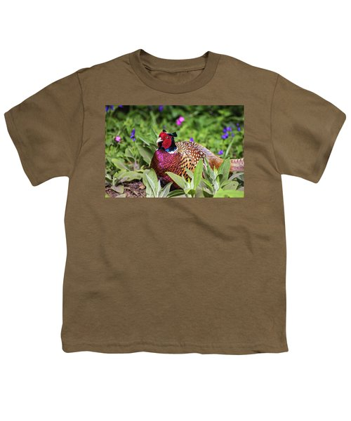 Pheasant Youth T-Shirt by Martin Newman