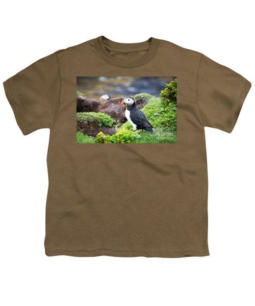 Puffin  Youth T-Shirt by Jane Rix
