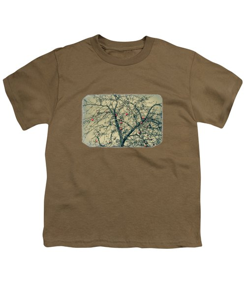 Red Apples In Empty Garden Youth T-Shirt by Konstantin Sevostyanov