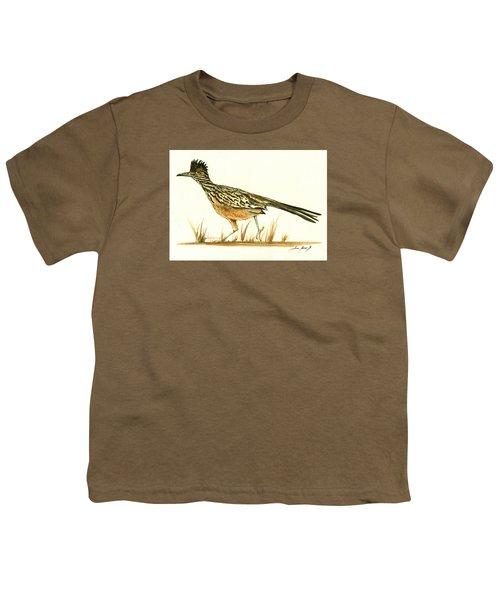 Roadrunner Bird Youth T-Shirt by Juan Bosco