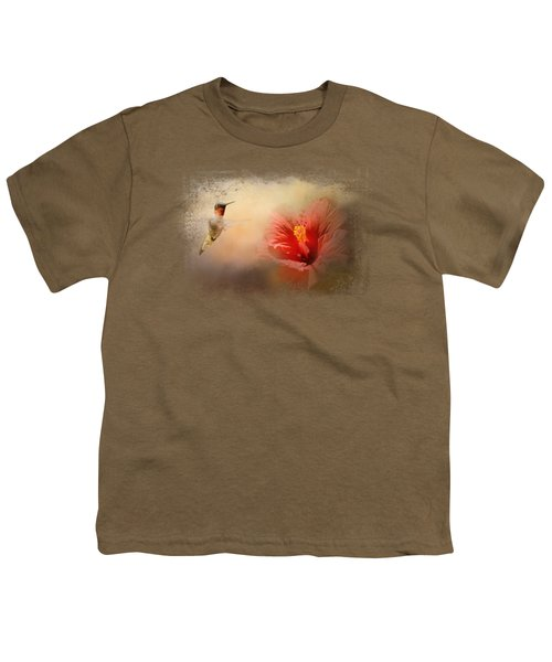 Romancing The Hibiscus Youth T-Shirt by Jai Johnson