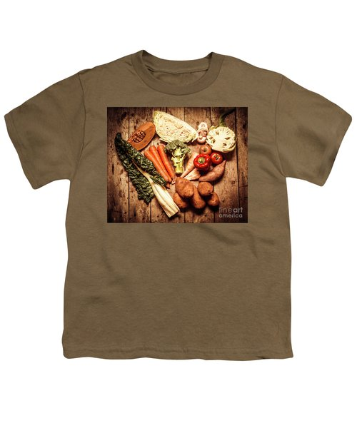 Rustic Style Country Vegetables Youth T-Shirt by Jorgo Photography - Wall Art Gallery