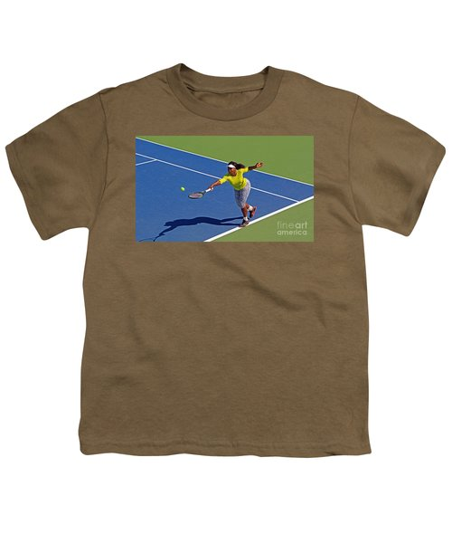 Serena Williams 1 Youth T-Shirt by Nishanth Gopinathan