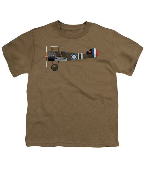 Sopwith Camel - B6313 June 1918 - Side Profile View Youth T-Shirt by Ed Jackson