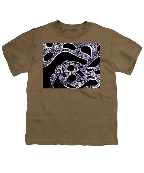 Sphere Night Light Youth T-Shirt by Jamie Lynn