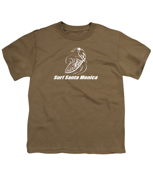 Surf Santa Monica Youth T-Shirt by Brian's T-shirts