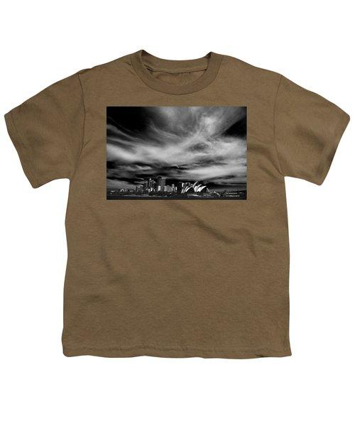 Sydney Skyline With Dramatic Sky Youth T-Shirt by Avalon Fine Art Photography