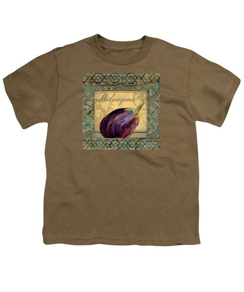 Tavolo, Italian Table, Eggplant Youth T-Shirt by Mindy Sommers