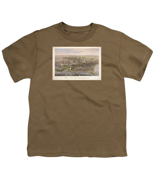 The City Of Washington Youth T-Shirt by Charles Richard Parsons
