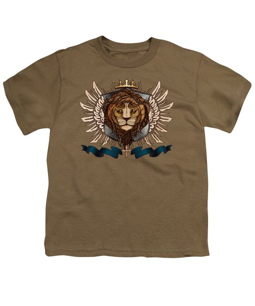 The King's Heraldry II Youth T-Shirt by April Moen