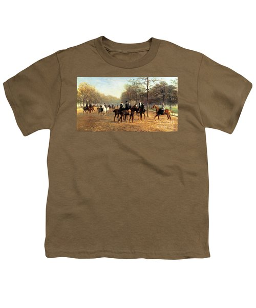 The Morning Ride Rotten Row Hyde Park Youth T-Shirt by Heywood Hardy