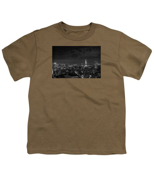 Tokyo Skyline Youth T-Shirt by Liz Grandstaff