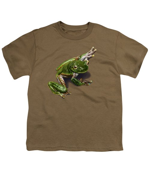 Tree Frog  Youth T-Shirt by Owen Bell
