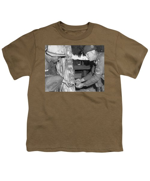Viet Cong Booby Trap Youth T-Shirt by Underwood Archives