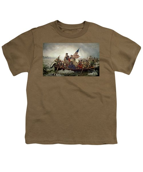 Washington Crossing The Delaware River Youth T-Shirt by Emanuel Gottlieb Leutze