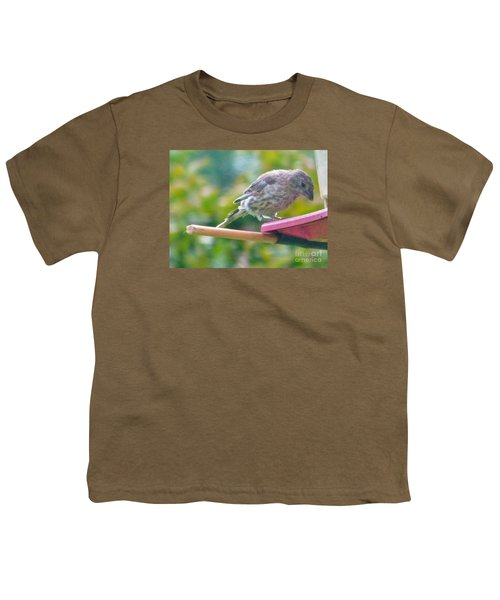 Young Crossbill Female  August  Indiana Youth T-Shirt by Rory Cubel