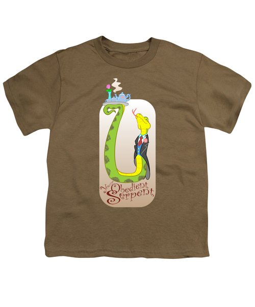 Your Obedient Serpent Youth T-Shirt by J L Meadows