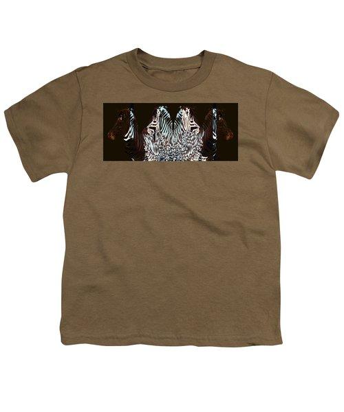 Zebraic Equation Youth T-Shirt by Stephanie Grant