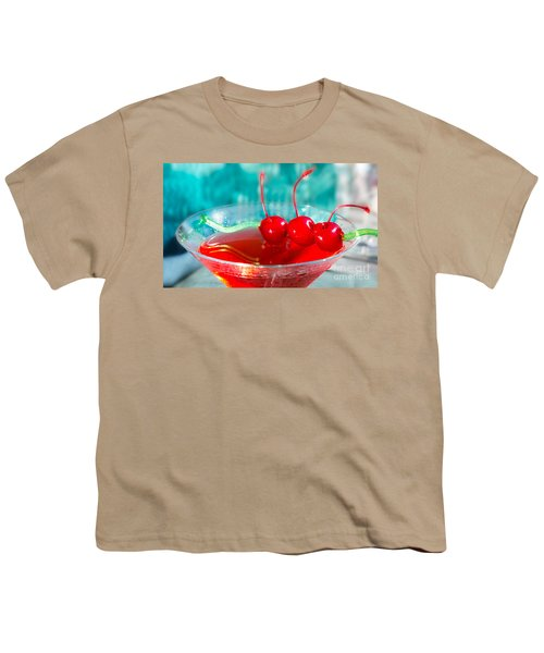 Shirley Temple Drink Youth T-Shirt by Iris Richardson