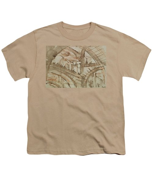 Drawing Of An Imaginary Prison Youth T-Shirt by Giovanni Battista Piranesi