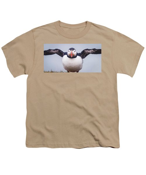 Atlantic Puffin Fratercula Arctica Youth T-Shirt by Panoramic Images