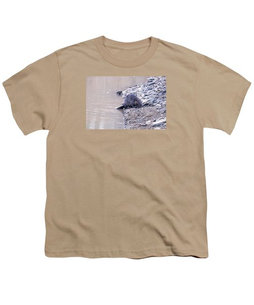 Beaver On Dry Land Youth T-Shirt by Chris Flees