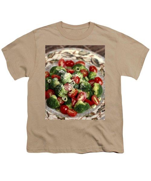 Broccoli And Tomato Salad Youth T-Shirt by Iris Richardson