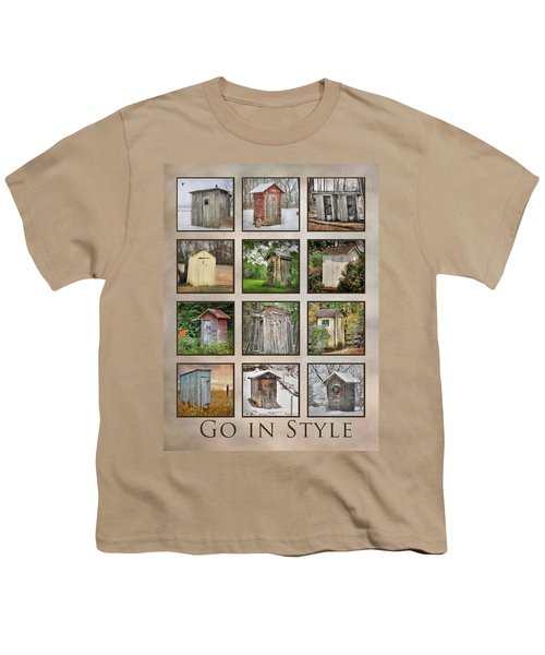 Go In Style - Outhouses Youth T-Shirt by Lori Deiter
