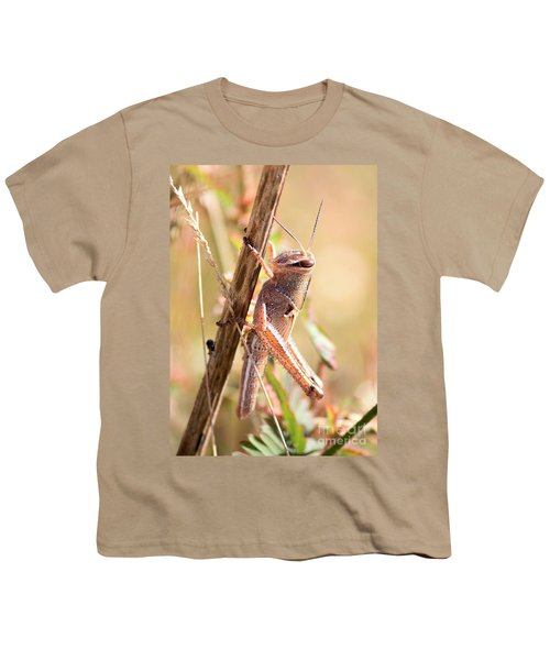 Grasshopper In The Marsh Youth T-Shirt by Carol Groenen