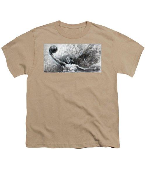 King James Lebron Youth T-Shirt by Ylli Haruni