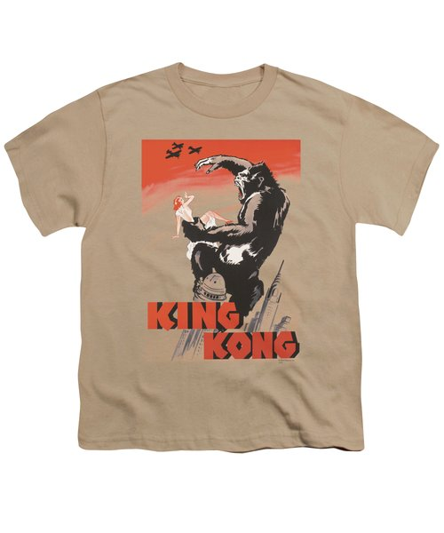 King Kong - Red Skies Of Doom Youth T-Shirt by Brand A