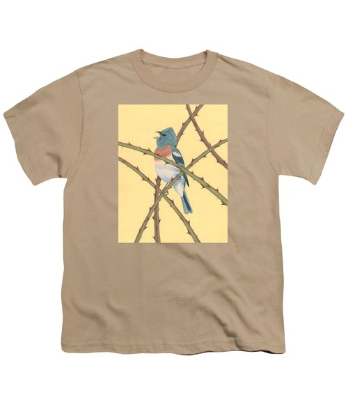 Lazuli Bunting Youth T-Shirt by Nathan Marcy