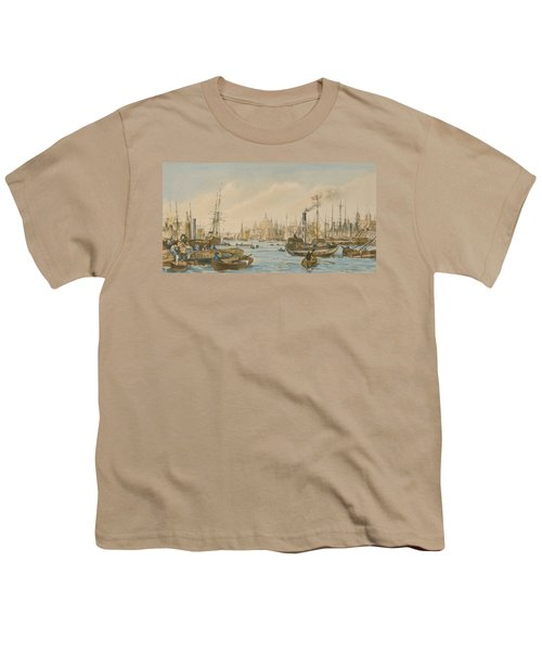 Looking Towards London Bridge Youth T-Shirt by William Parrot